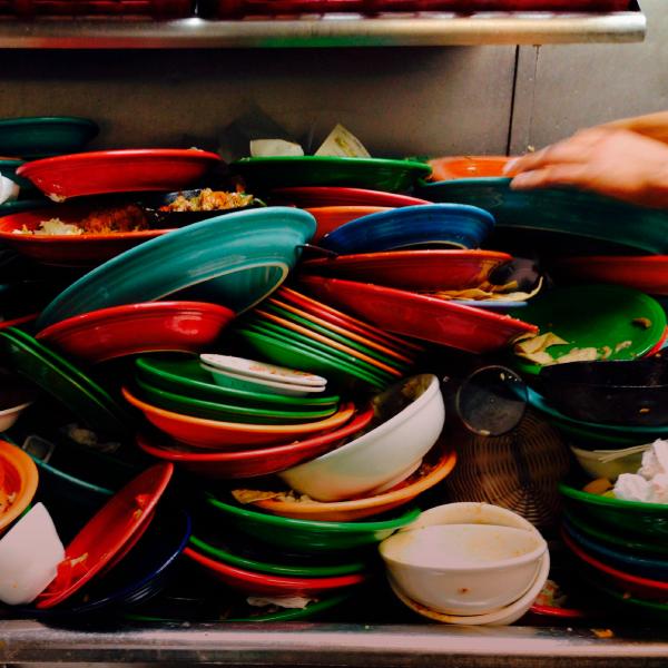 Lavar platos para escribir