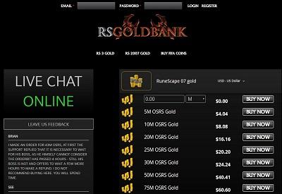 RSGoldbank Screenshot