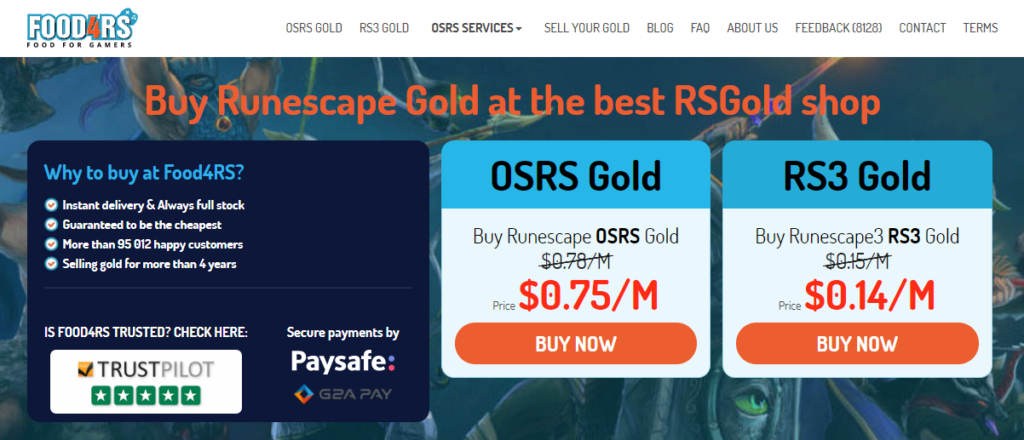 buy osrs gold at food4rs