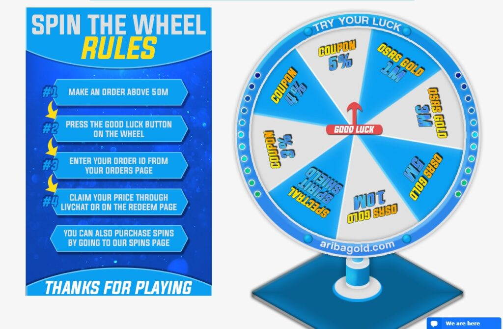 Ariba Gold Spin the wheel