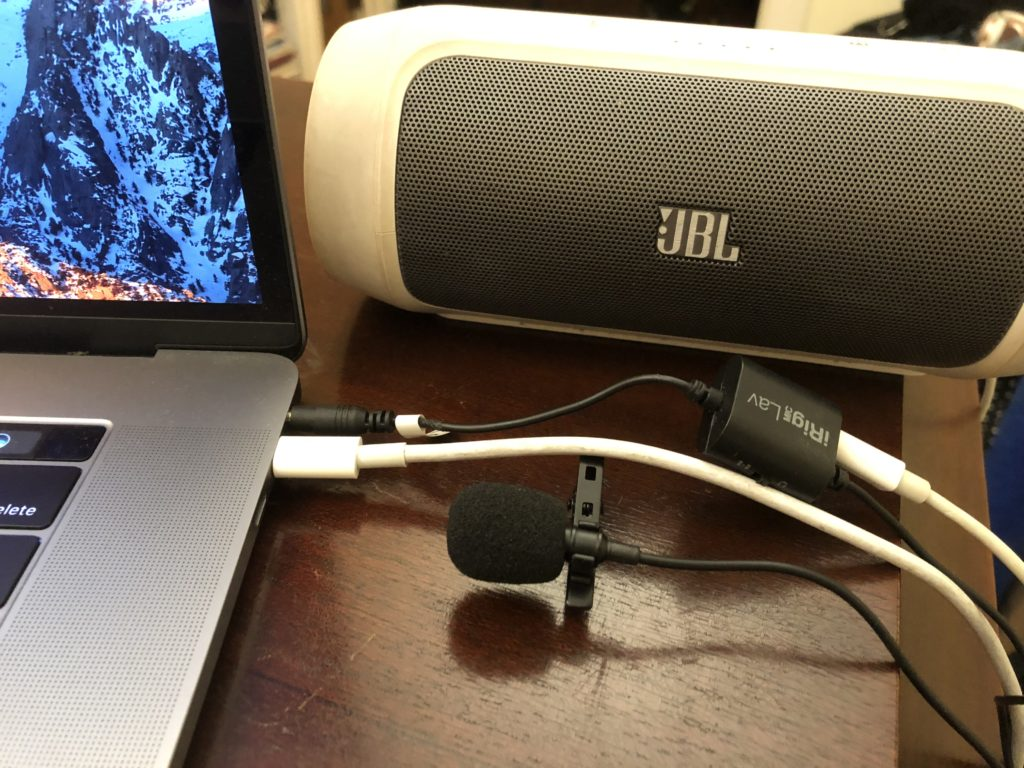IRig mic lav audio aplitter