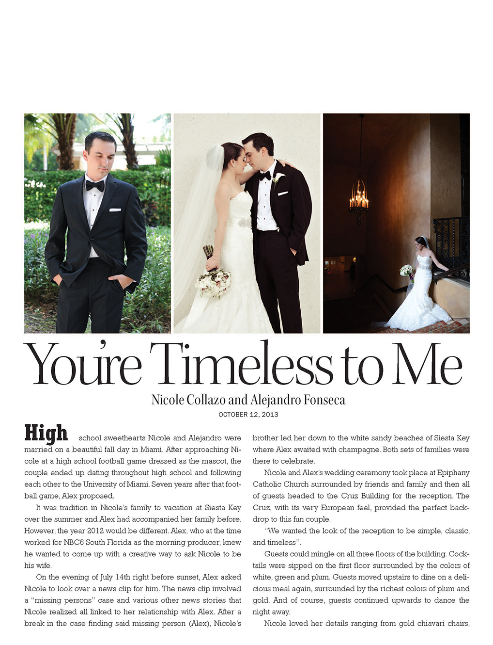 You're Timeless to Me | ENCHANTED BRIDES