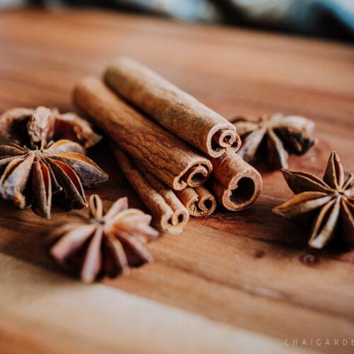 chai garden add on, cinnamon sticks and star anise