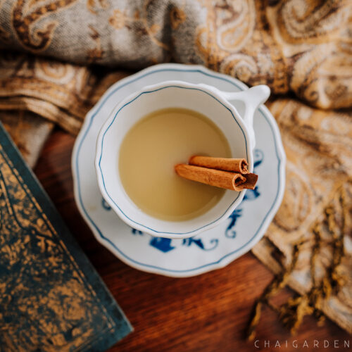 authentic chai recipe, chai with cinnamon stick, blue danube, organic chai