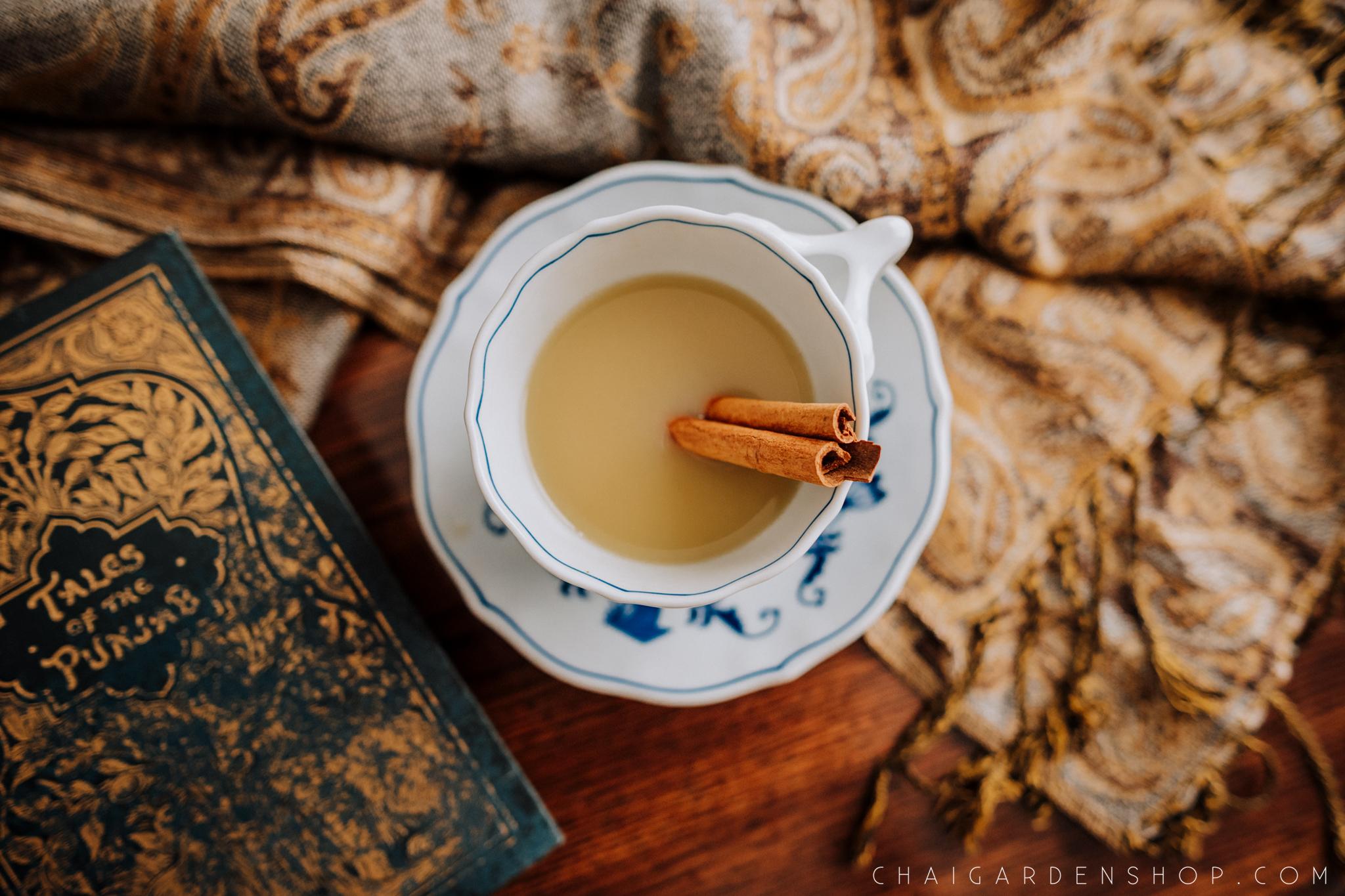 authentic chai recipe, chai with cinnamon stick, blue danube, organic chai