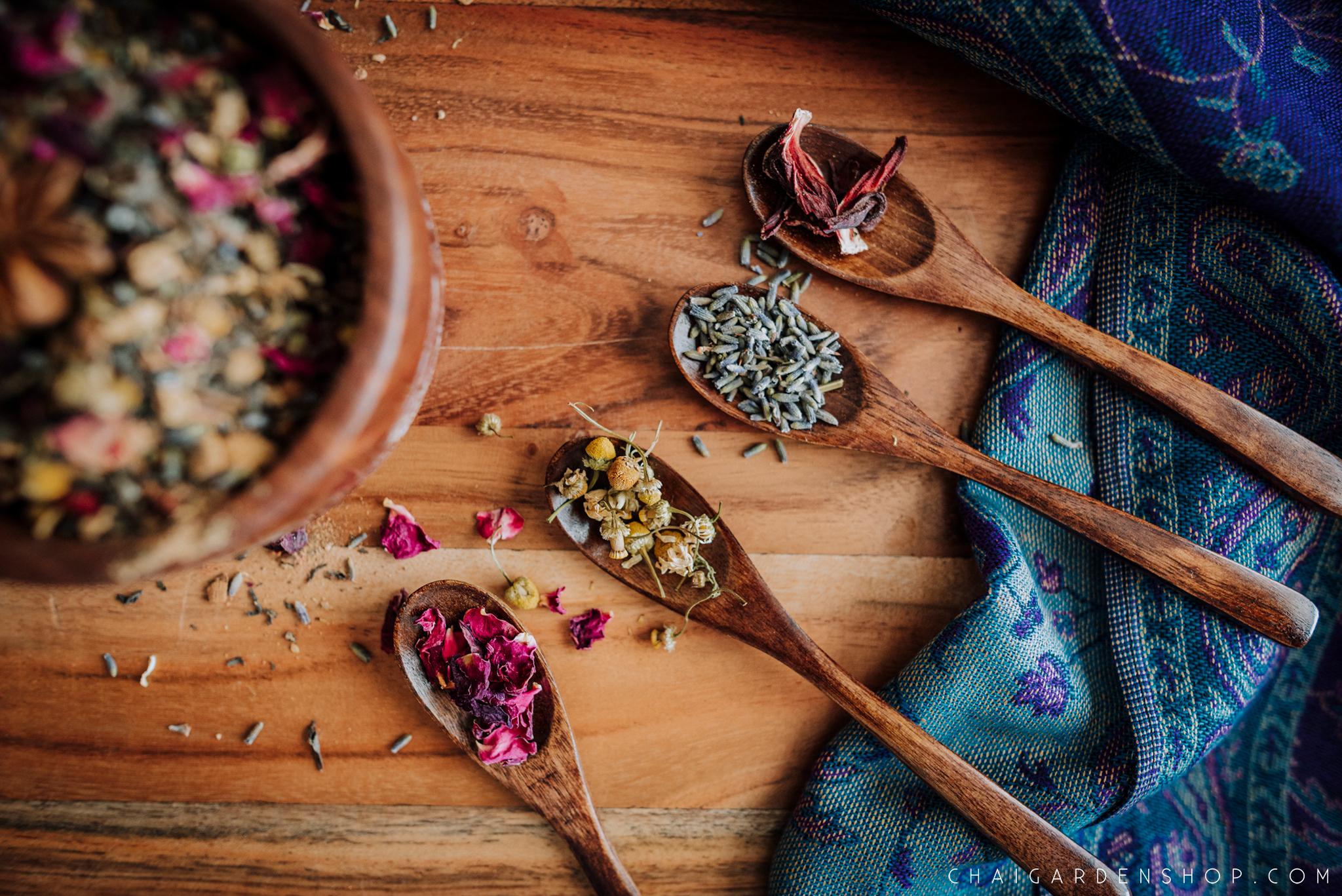 herbal pregnancy tea, postpartum tea, floral fantasy tea, organic herbal chai
