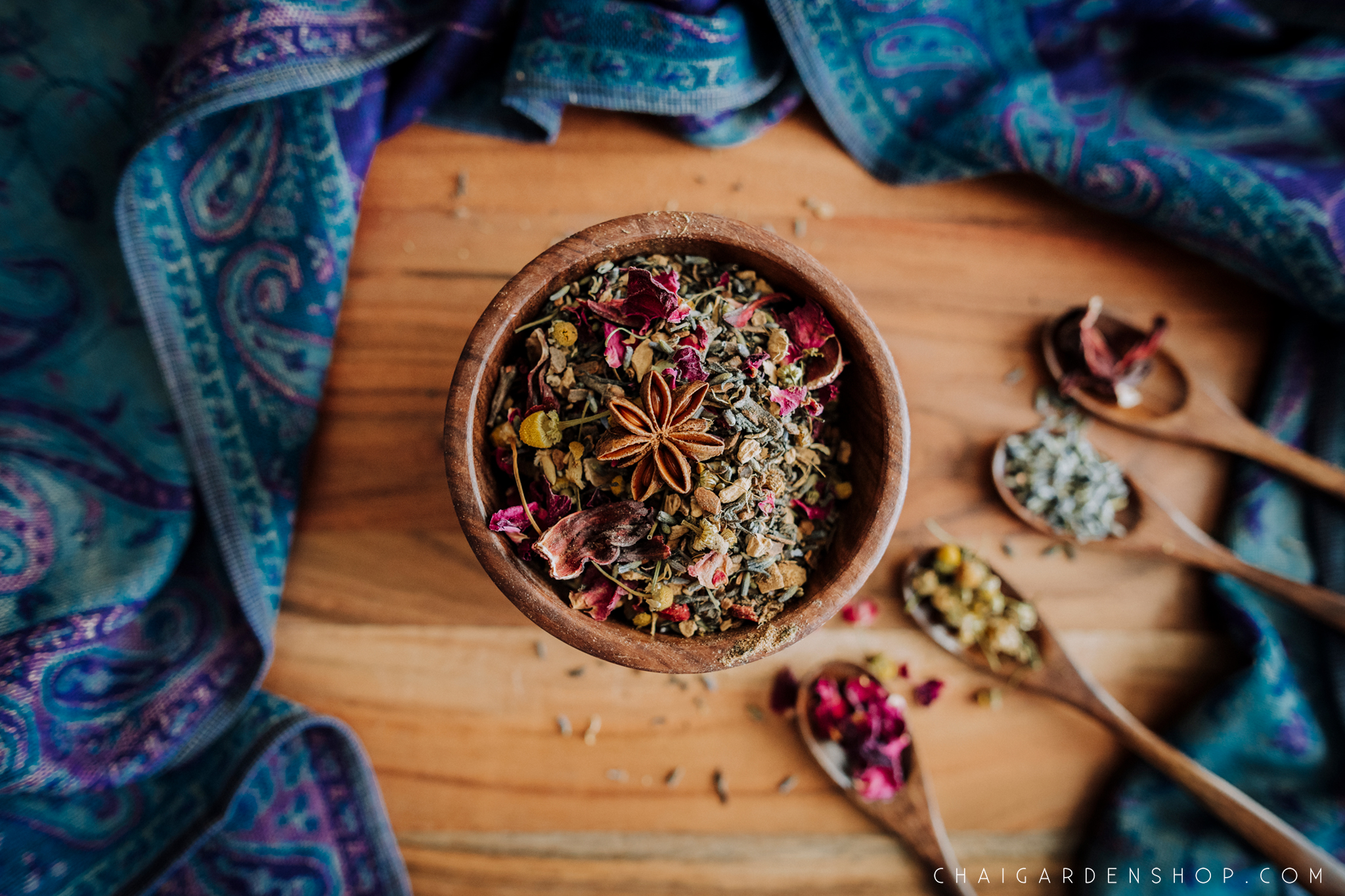 herbal pregnancy tea, postpartum tea, floral fantasy tea, organic herbal chai, chai with rose petals, chai with chamomile, lavender, hibiscus