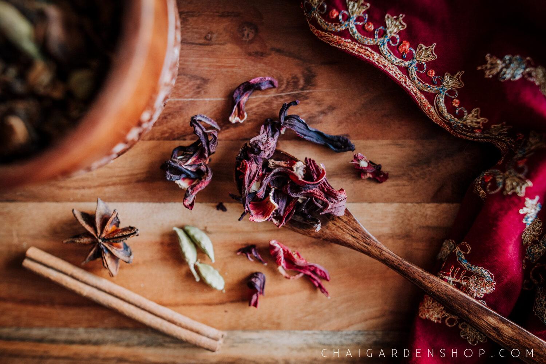 hibiscus chai, organic chai, spokane chai shop, spokane tea shop, organic chai spokane