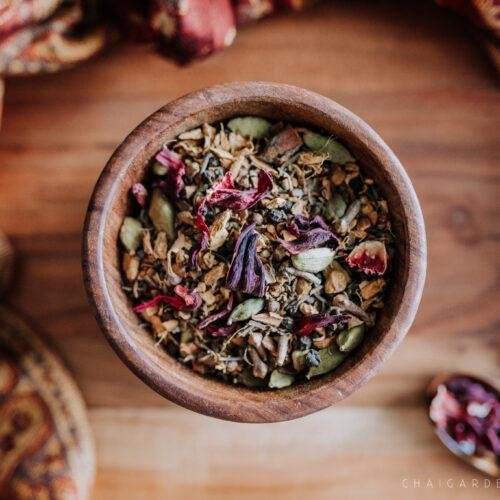 hibiscus chai, organic chai, spokane chai shop, spokane tea shop, organic chai spokane, hibisuc tea, fruity chai
