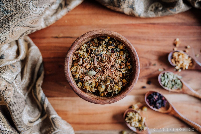 chai garden, organic chai, immunity tea, immune boosting tea, immunity chai, herbal chai, authentic chai tea, spokane chai, spokane tea shop