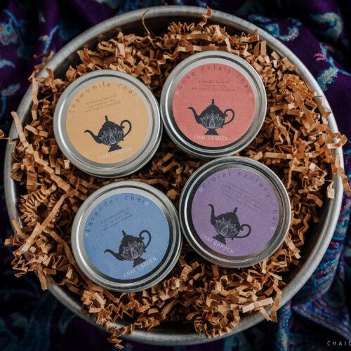 floral chai, chamomile chai, rose petal chai, floral fantasy chai, lavender chai