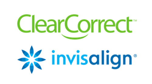 Invisalign and ClearCorrect logos
