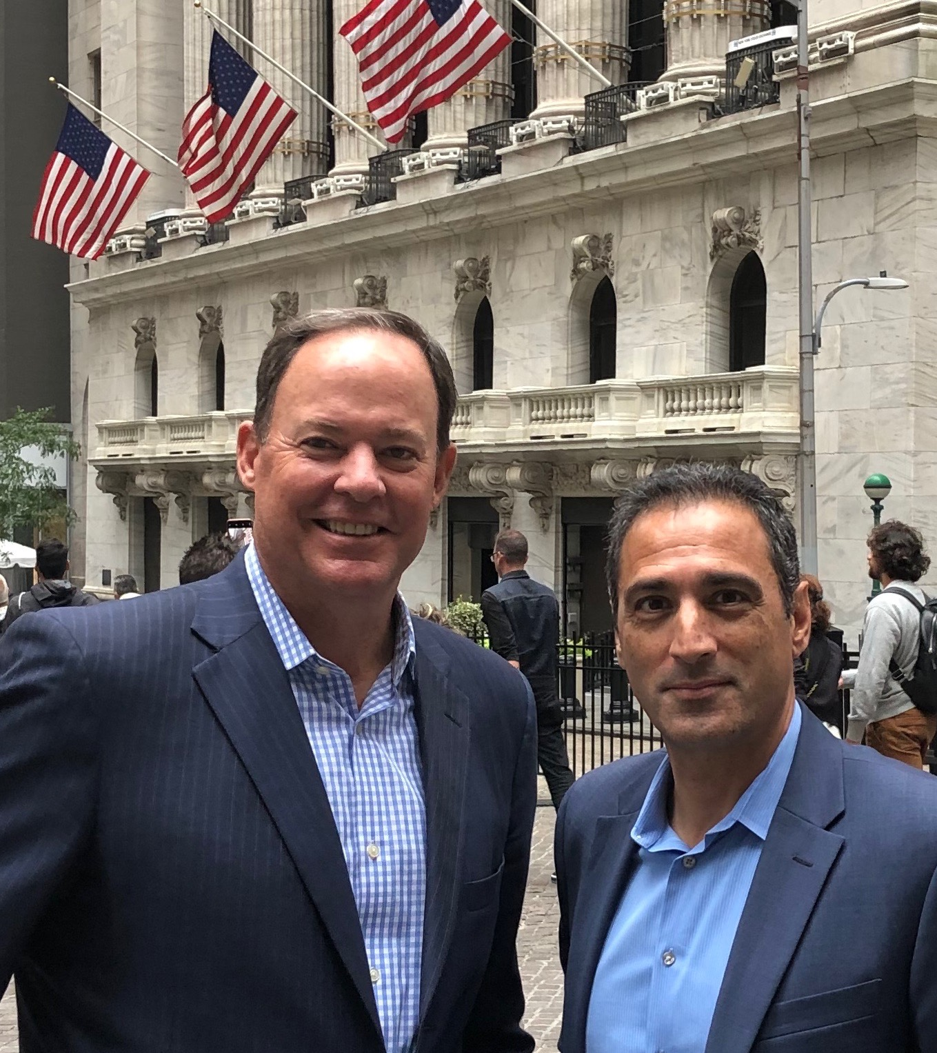 Arun and Craig at the New York Stock Exchange