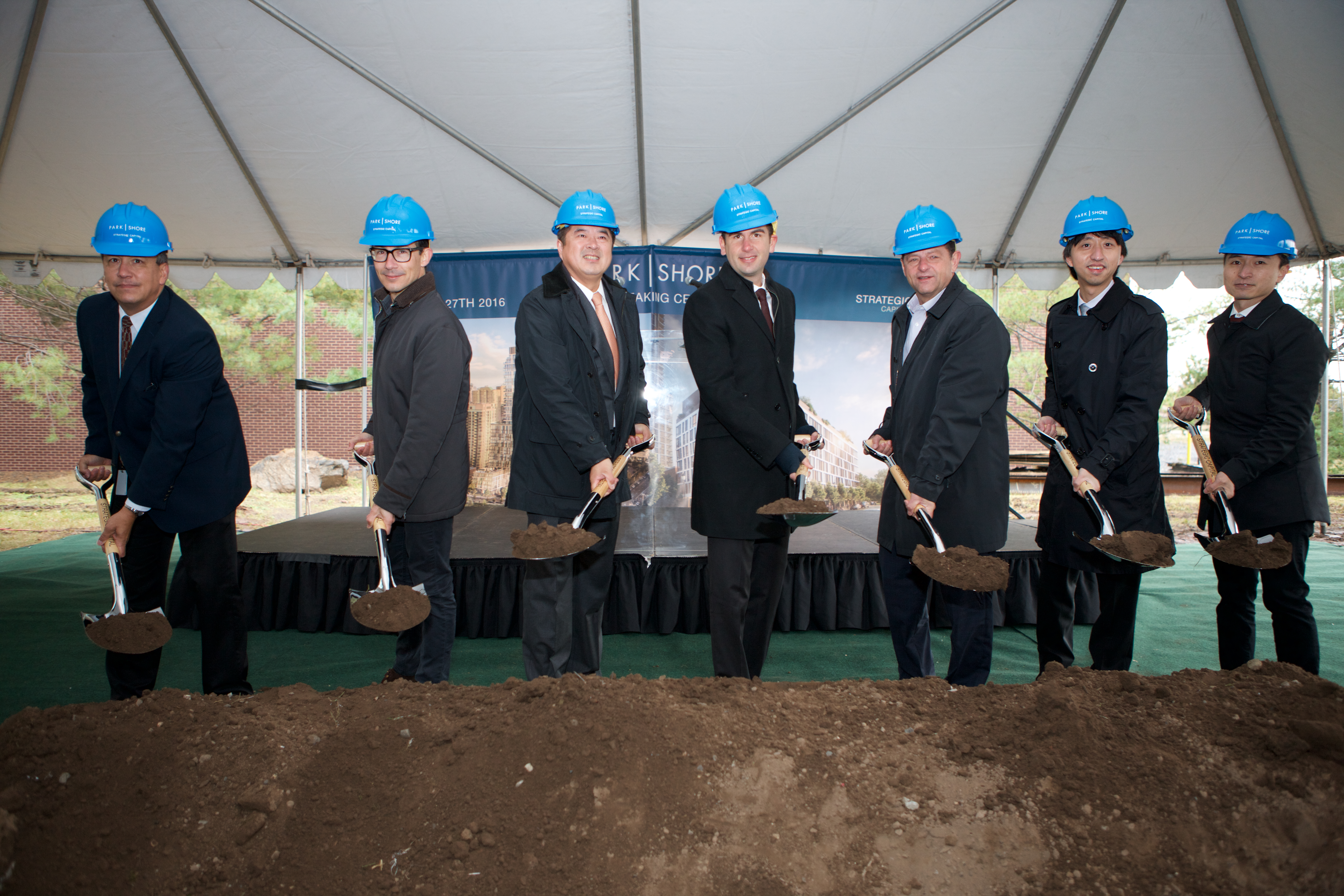 Strategic Capital joined local officials for a groundbreaking ceremony for Park and Shore in Jersey City.