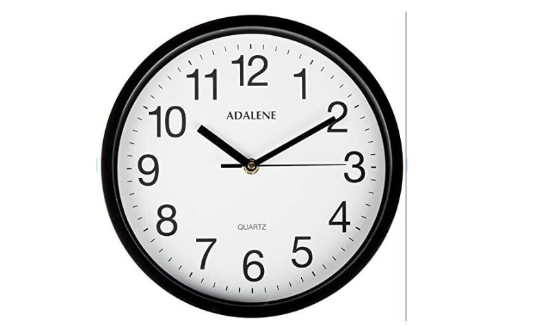 10″ Adalene Classroom Wall Clock Up to 69% Off! Was $34.95!