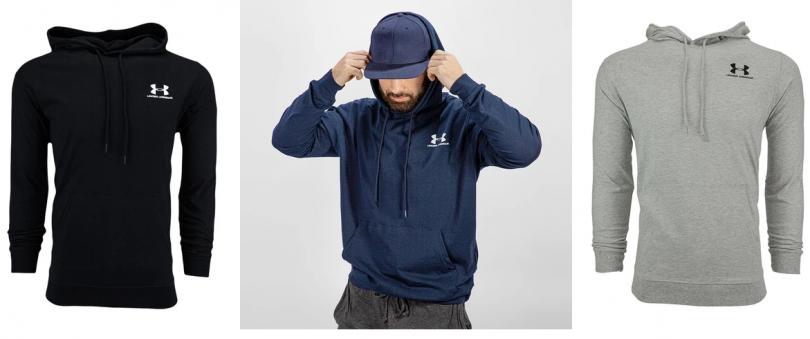 Under Armour Men's Lightweight Pullover Hoodie just $17.99 (Reg $55)!