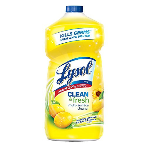 Lysol Clean & Fresh Multi-Surface Cleaner, Lemon & Sunflower, 40oz Up to 38% Off! Was $3.99 ($0.10 / Fl Oz)!