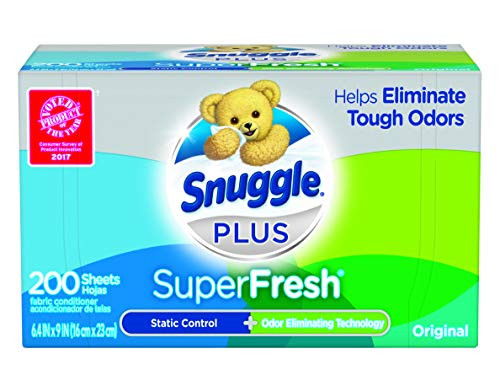 Snuggle Plus SuperFresh Fabric Softener Dryer Sheets, 200 Count  – ON SALE+SUB/SAVE!