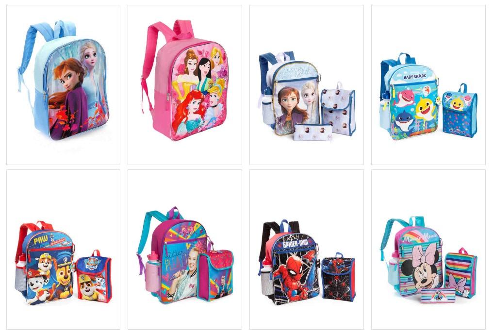 Kids Backpacks & Backpack Sets as low as $8!!