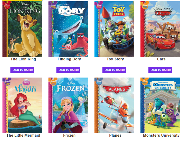 Wow! 4 Disney Books for just $.99 Each Shipped! + Get a FREE Activity Book!