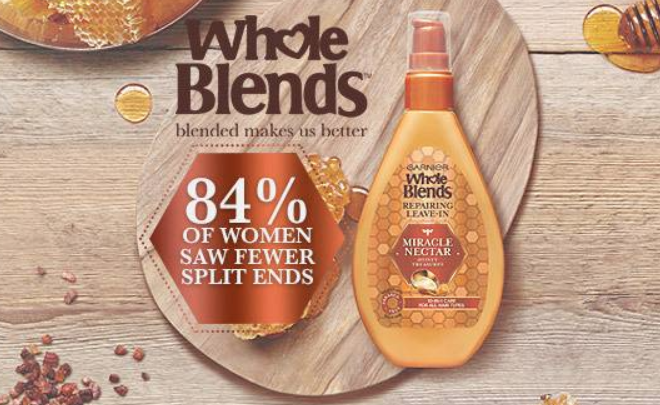 FREE Sample of Garnier Whole Blends Miracle Nectar Treatment