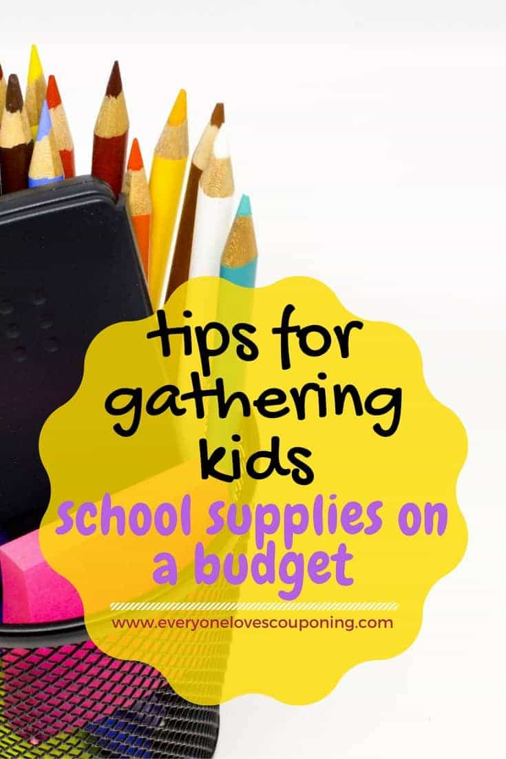 Tips for Gathering Kids' School Supplies on a Budget