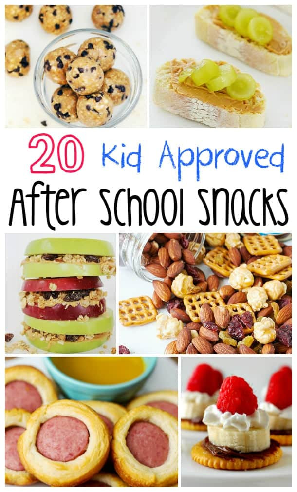 YUMMY! 20 Kid Approved After School Snacks!
