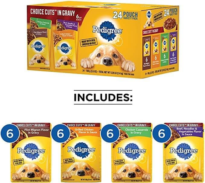 PEDIGREE Choice Cuts Dog Food Variety Pack Up to 45% Off! Was $14.59 ($0.17 / Ounce)!