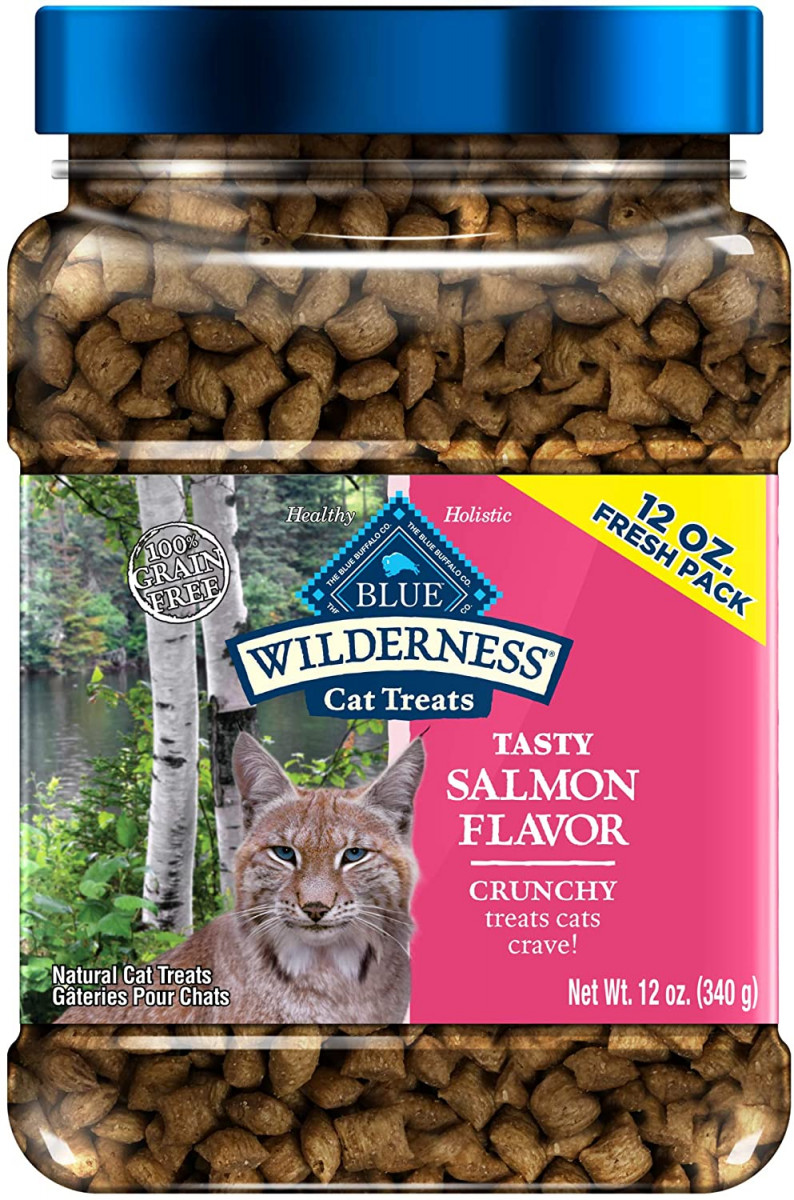 Blue Buffalo Wilderness Grain Free Crunchy Cat Treats, Salmon 12-oz Tub  – 31% PRICE DROP+QPON+SUB/SAVE!