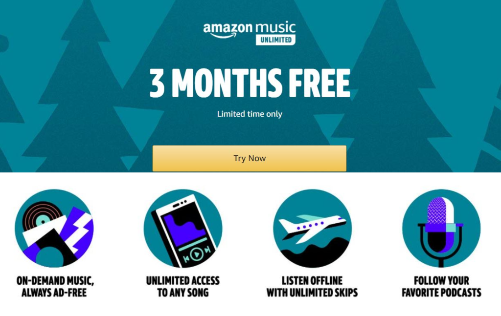Amazon Music Unlimited | FREE 3 Month Subscription!