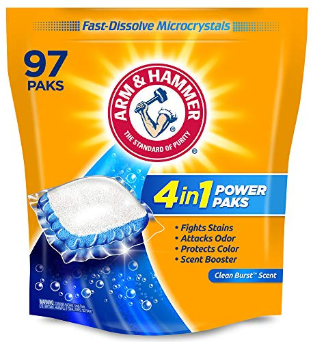 Arm & hammer 4-in-1 Laundry Detergent Power Paks, 97 Count  – 43% PRICE DROP+SUB/SAVE!