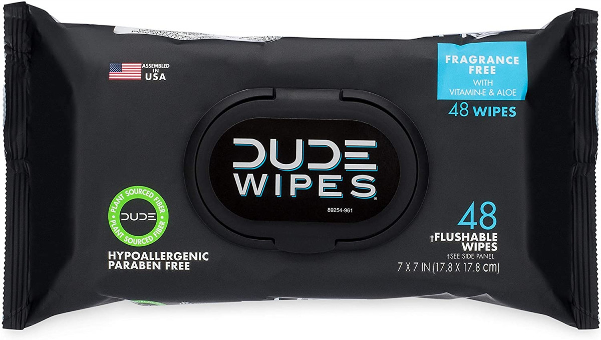 DUDE Wipes Flushable Wipes Dispenser, 48 Count (Pack of 1)  – 57% PRICE DROP+SUB/SAVE!