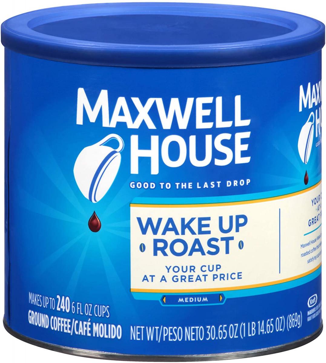 Maxwell House Wake Up Roast Medium Roast Ground Coffee (30.65 oz Canister)  – 44% PRICE DROP+SUB/SAVE!