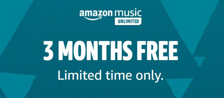 Amazon: 3-Month Subscription to Amazon Music Unlimited for FREE