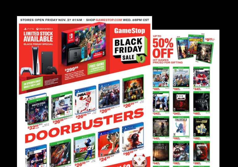 Best Game Stop Black Friday Deals + Ad Scan!