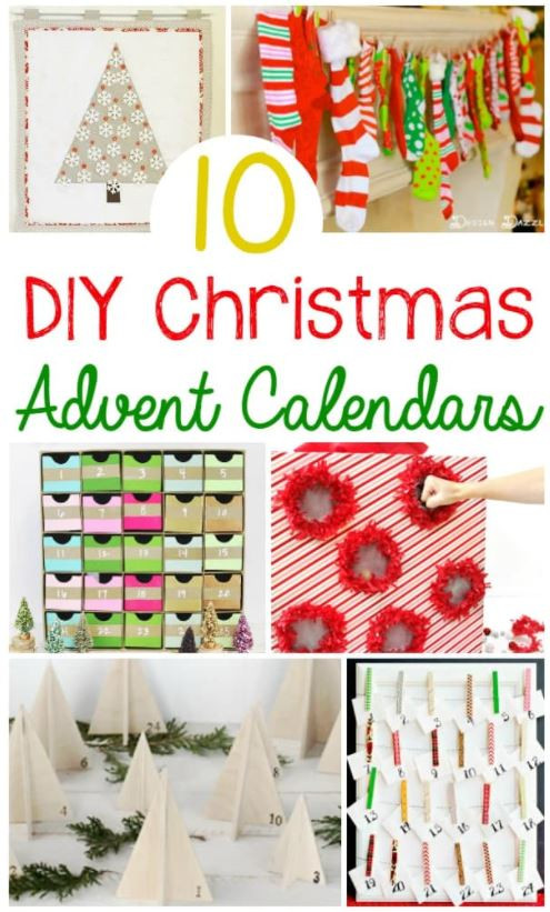 10 DIY Christmas Advent Calendars!