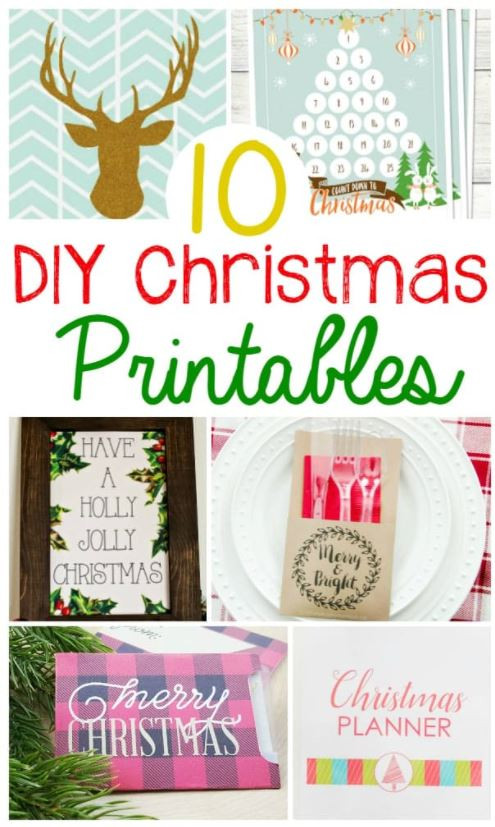 10 DIY Christmas Printables!
