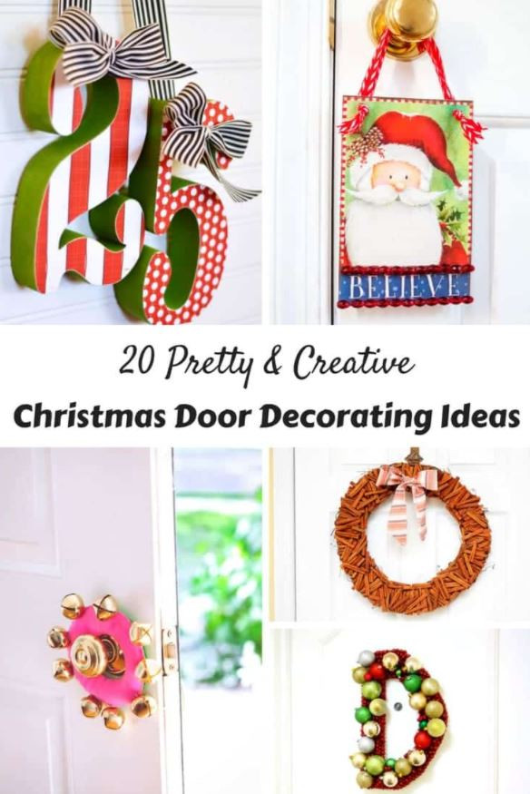 20 Pretty & Creative Christmas Door Decorating Ideas!