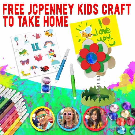 JCPenny: Free Kids Craft to Take Home on April 10th!