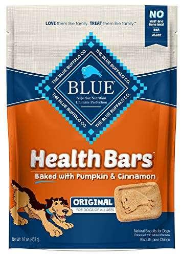 43% Off Blue Buffalo Health Bars Natural Crunchy Dog Treats Biscuits, Pumpkin & Cinnamon 16-oz bag! Was $6.99 ($0.44 / oz)!