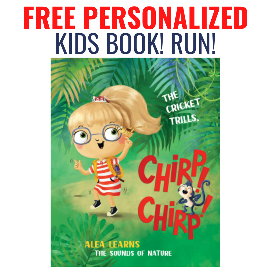 Limited Stock! Free Personalized Kids Book! Just Pay $3.99 Shipping!