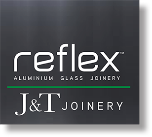 Reflex Glass and J&T Joinery Logo