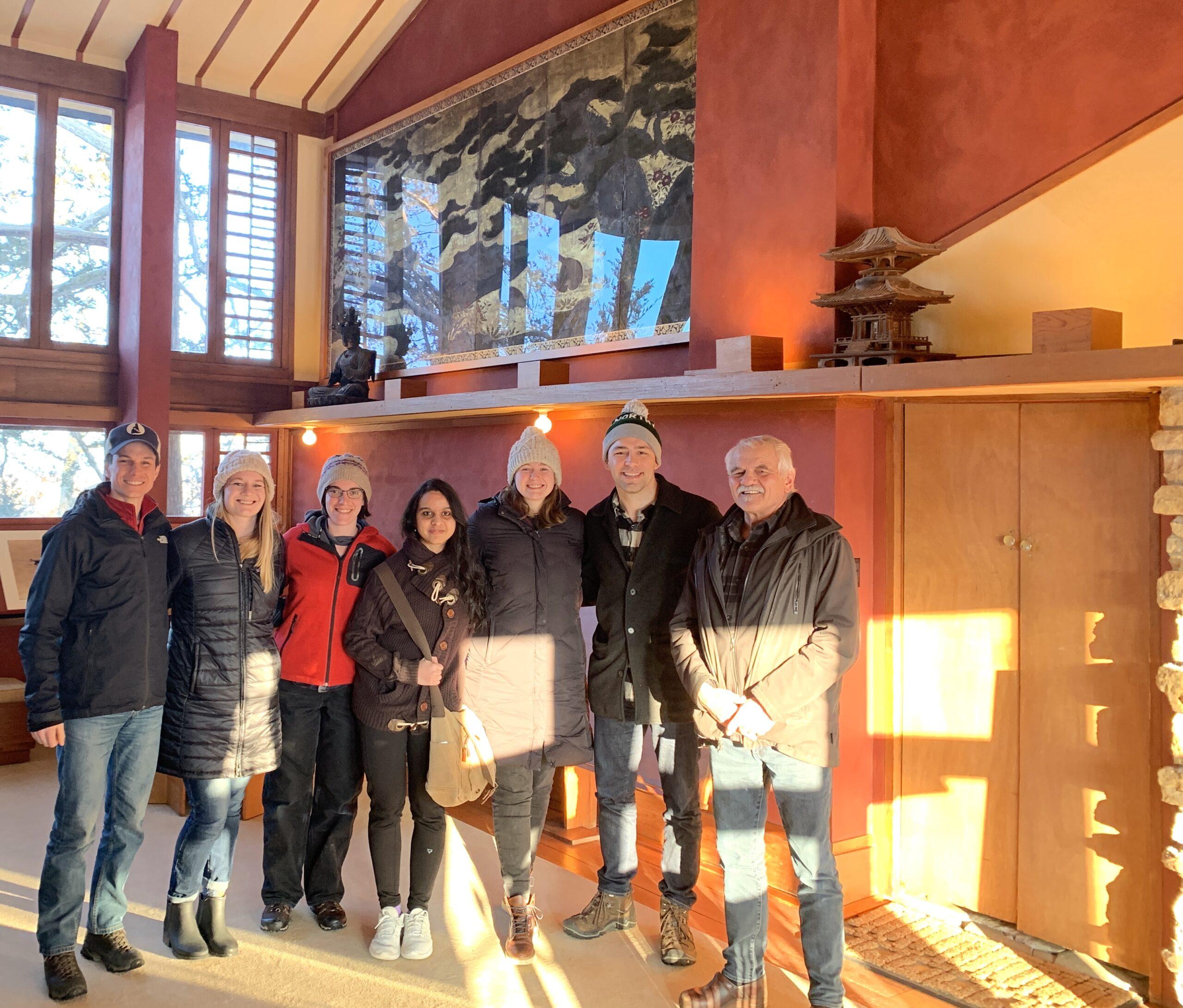 Harvard Visit to Taliesin, Jahn Research Group, Molly Jahn