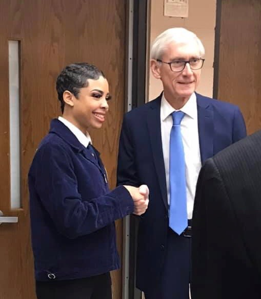 Governor Evers Visit, Molly Jahn, Jahn Research Group