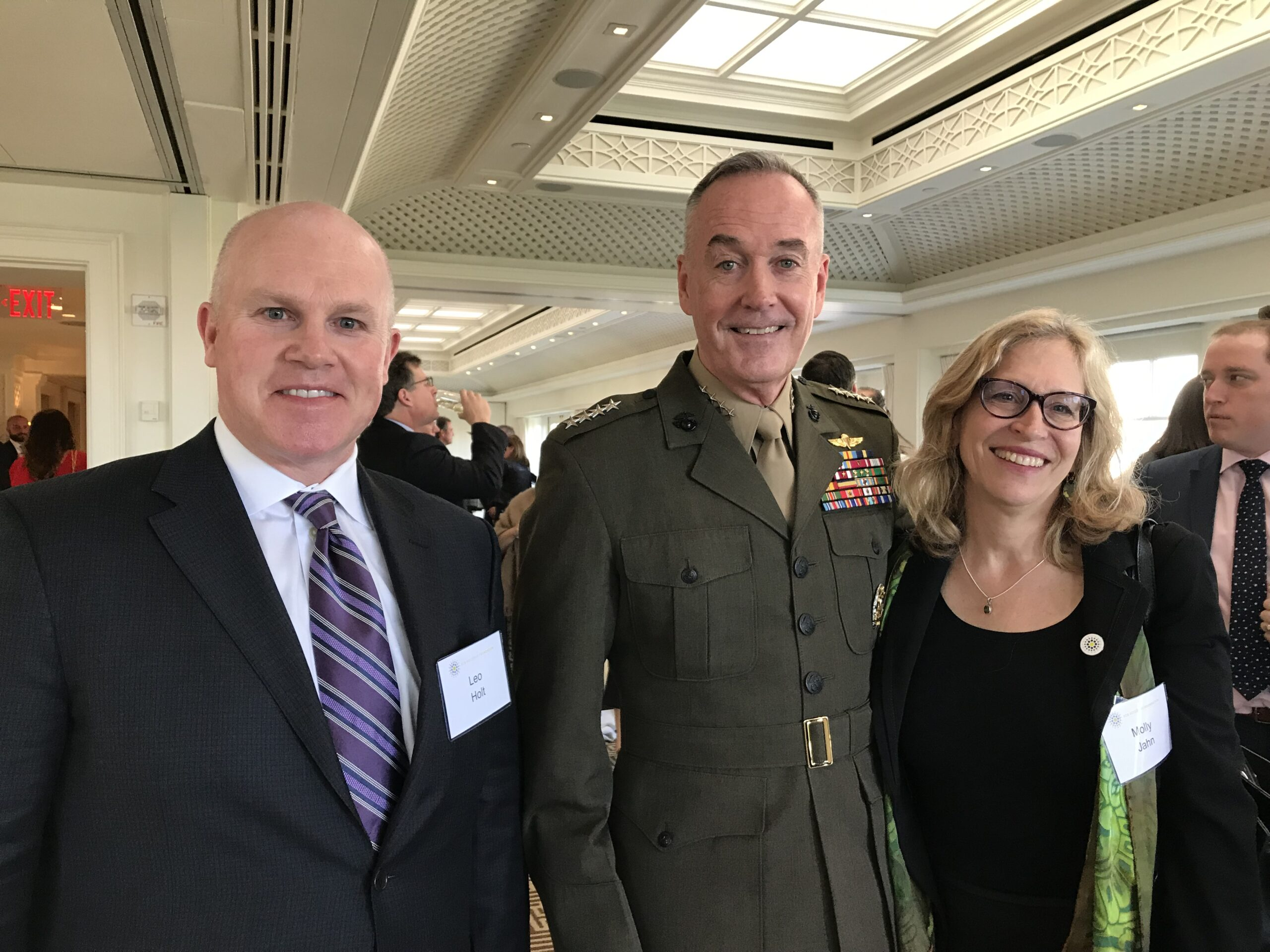 Molly Jahn, General Dunford, and Leo Holt