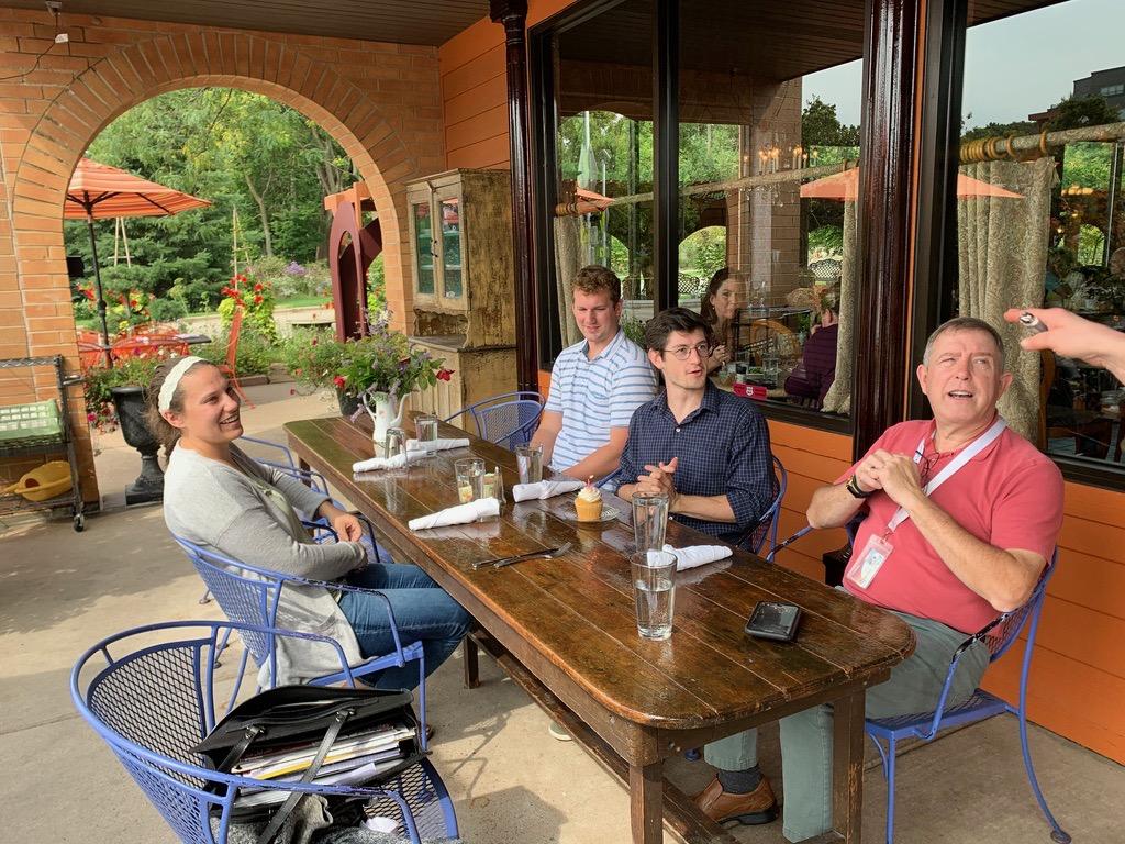 Jahn Research Group Lunch, Molly Jahn, Taryn Otto, Braeden Rimestad, Aaron Kelly, Bill Oemichen