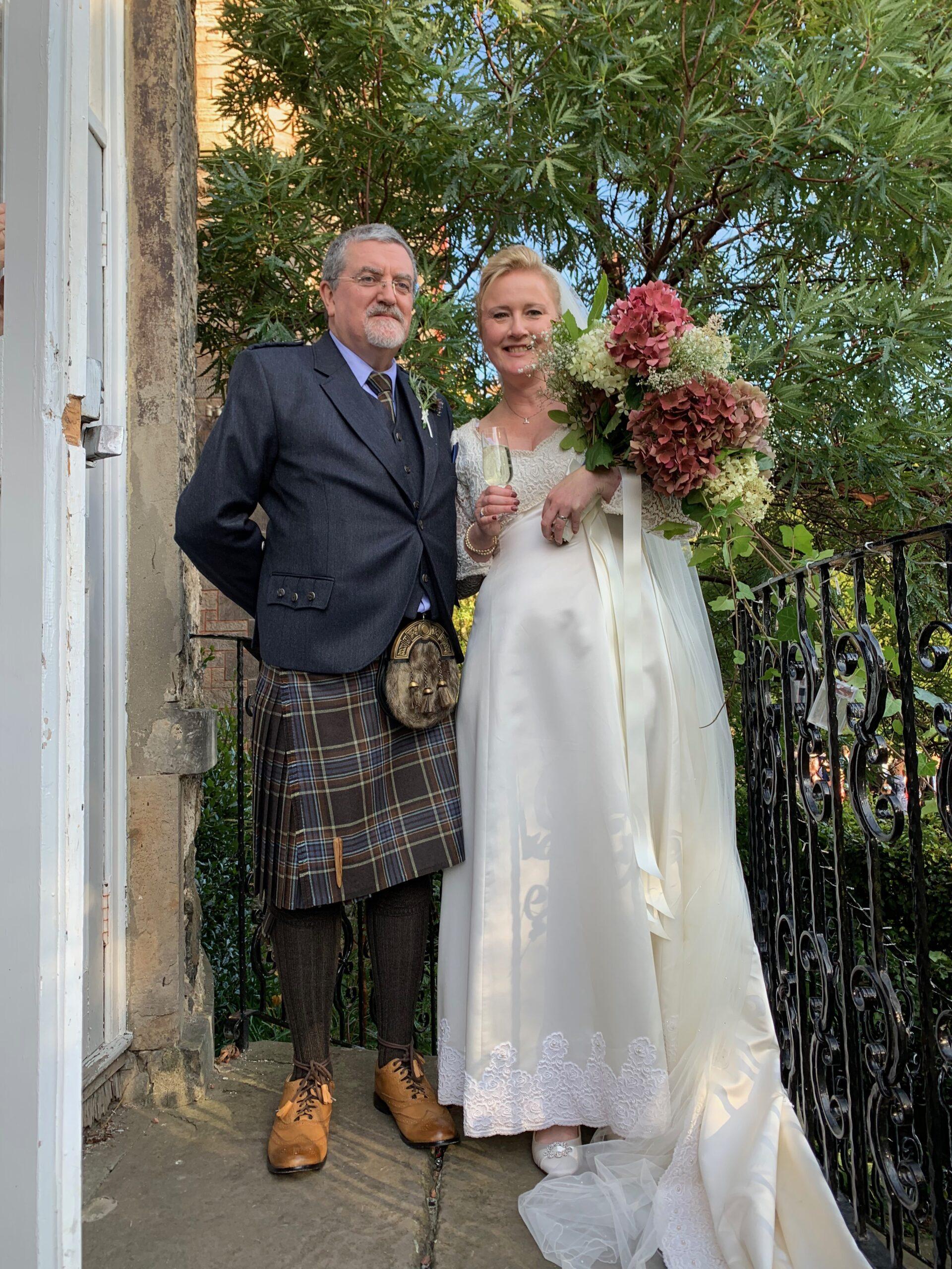 Molly Jahn attends wedding