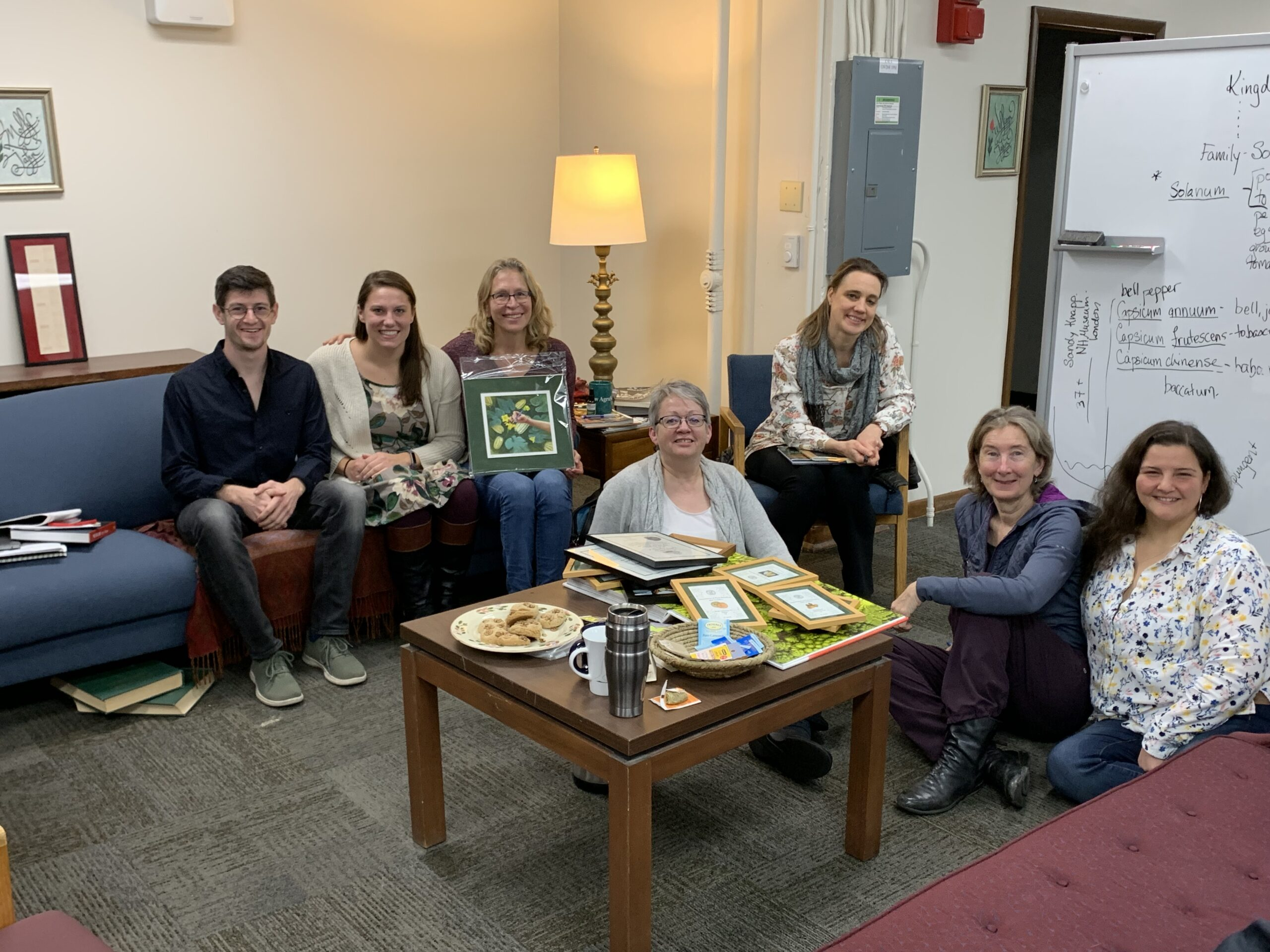Taliesin group visits Jahn Research Group, Molly Jahn