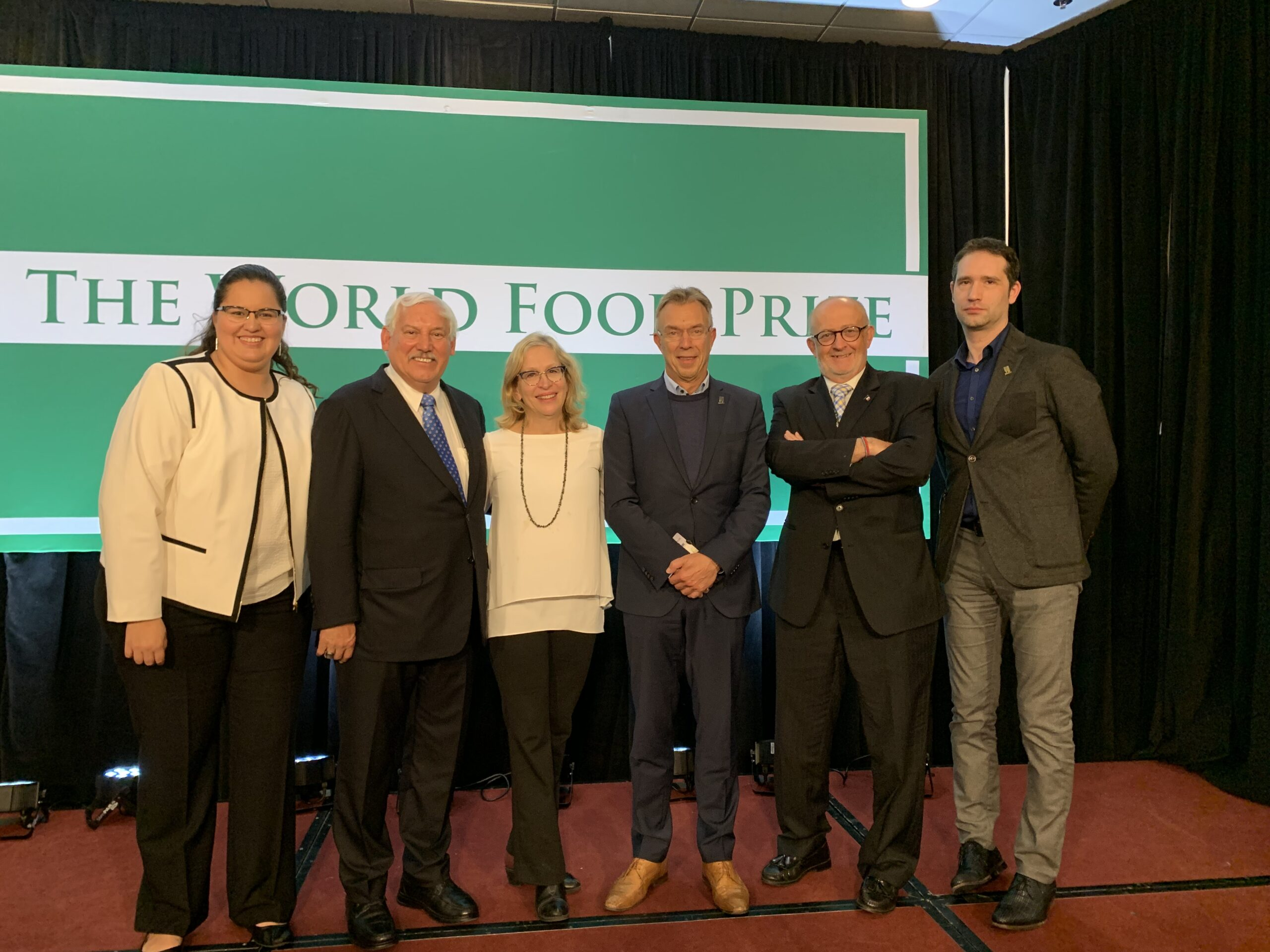 Molly Jahn at world food prize representing Jahn Research Group