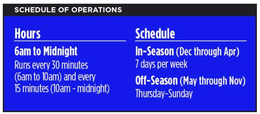 Duval Loop Schedule